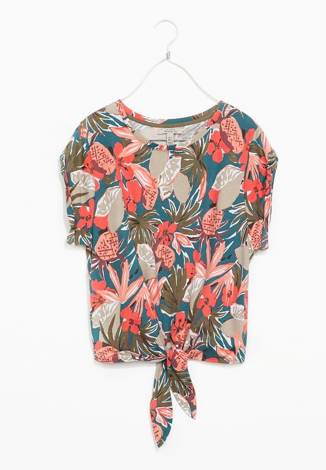 Camiseta tropical Zara